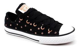 Tênis Infantil All Star Converse Estrela Feminino - Preto