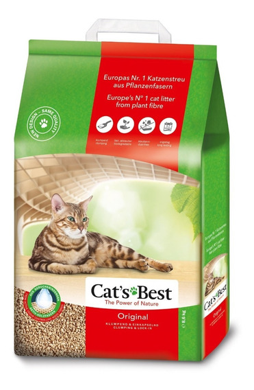 Arena Gato Cats Best Biodegradable 8.6 Kg. Lecho Natural