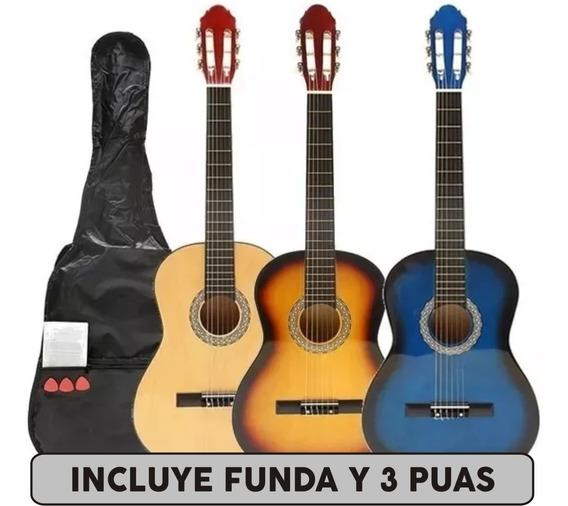 Guitarra Criolla Clasica De Estudio Funda Manual Puas - Cuotas
