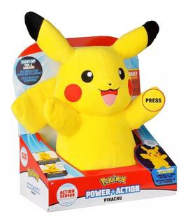 Pokemon Pikachu Peluche Luz Sonido Interactivo Action Sensor
