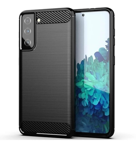 Imagen 1 de 2 de Funda Tpu Fibra Carbono Para Samsung S21 S21 Plus S21 Ultra