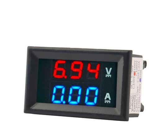 Voltimetro Amperimetro Dc 100v 10a Display Rojo Y Azul