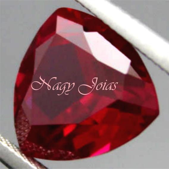 Belo Trilhante De Rubi Pedra Preciosa Vermelho Brasa 2,20cts