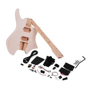 Muslady Unfinished Diy Kit De Guitarra Elctrica Basswood