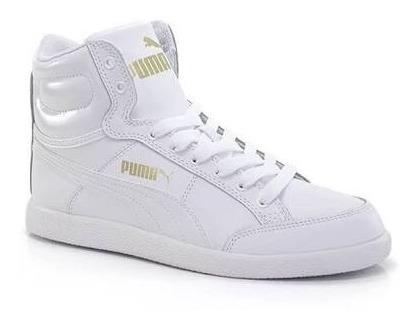 Tênis Branco Feminino Original Puma Ikaz Mid Classic Num 38