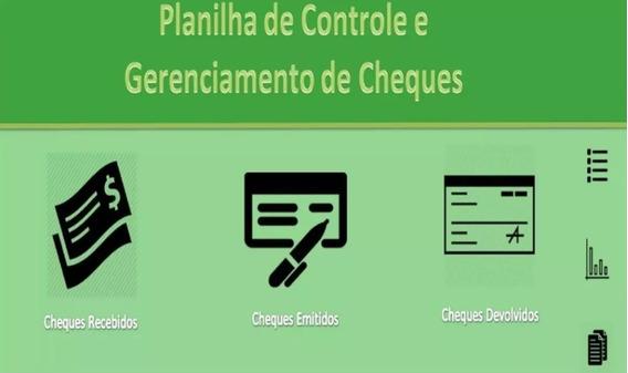 Planilha Excell Vba Profissional Financeira De Cheques