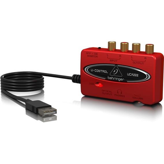 Interface Audio Behringer Uca222 Usb Placa De Som Externa
