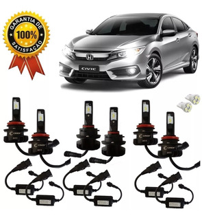 Lampada Super Led Plus Civic 2017 18 19 Farol E Milha Cinoy