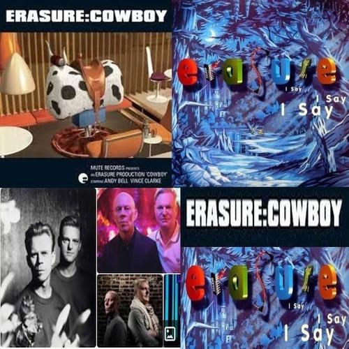 2x Cds Erasure Cowboy / I Say, I Say, I Say 1a Ed Br 1994-97