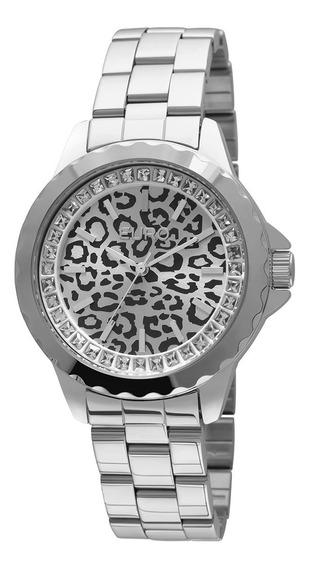 Relógio Euro Feminino Prata Analógico Eu2035ybe/3k - Onça