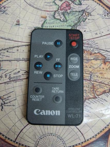 Controle Remoto Para Filmadora Canon Wl-17