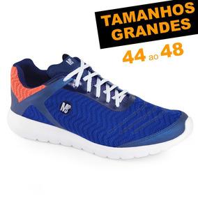 1 Tênis Ms Fit Marinho 45 + 1 Tênis Ms Runner Preto 46