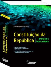 Constituição Federal Interpretada E 3 Livros Pelo Preço De 1