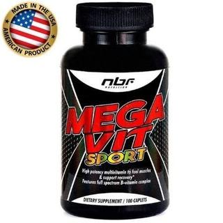 Mega Vit Sport 100 Tabs - Nbf Nutrition Importado Eua