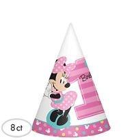 1er Cumpleaños Sombreros De Fiesta De Minnie Mouse 8 Suminis