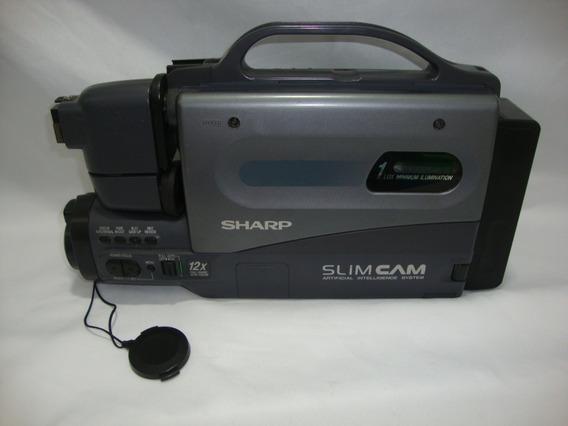 Antiga Filmadora Sharp Slim Cam Para Decoração