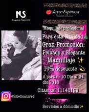 Joyce Maquillista Profesional, Promoción Y A Domicilio