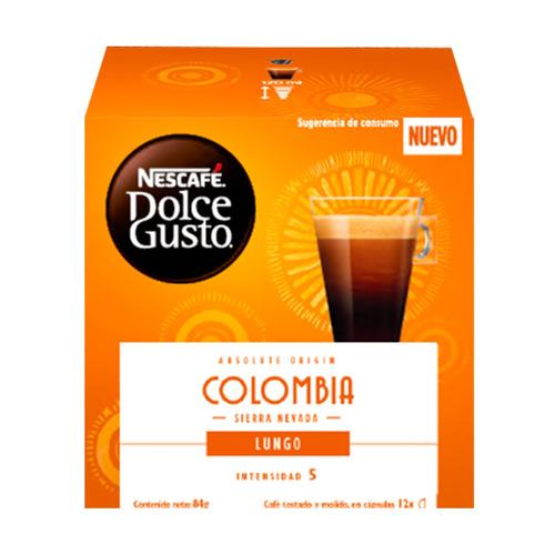 Imagen 1 de 1 de Café colombia lungo en cápsula Nescafé Dolce Gusto 12u
