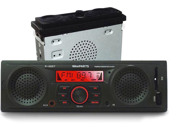 Radio Automotivo Mp3 Usb Com Alto-falantes + Sub Integrados