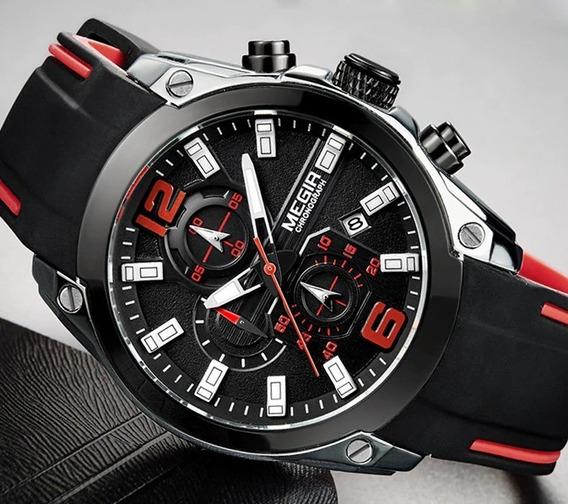 Relógio Masculino Megir Quartzo Ponteiro Luminoso W2