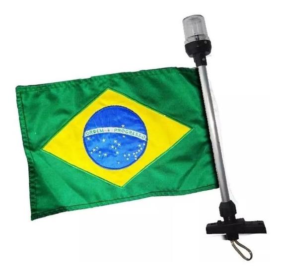 Bandeira Do Brasil E Luz De Popa Mastro De Alcançado 12 V