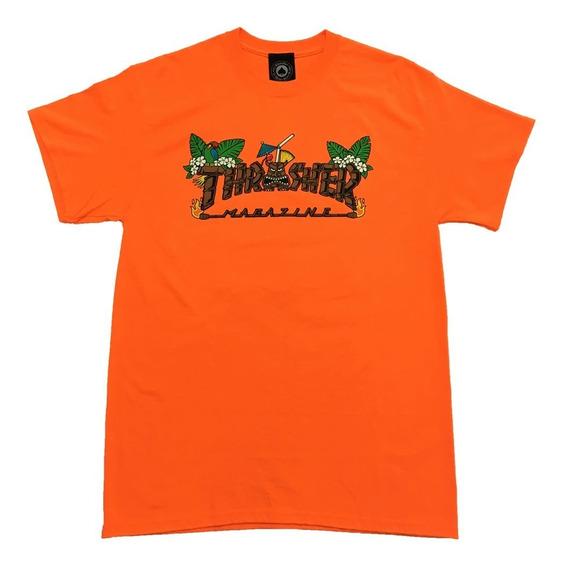 Remera Thrasher 100% Original Tiki Nuevo Modelo !!