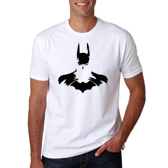 Camisa Masculina Super Herói Batman Manga Curta