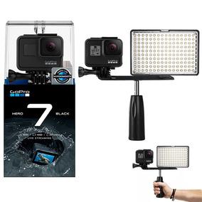 Gopro Hero 7 Black Câmera 4k + Iluminador Led C/ Garra
