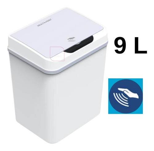 Lixeira Automatica Com Sensor De Aproximacao Branca 9l Ei078