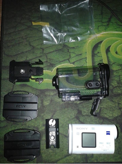 Sony Action Cam Hdr-as200v Com Wifi E Gps *2 Meses De Uso