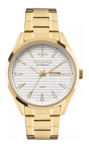 Relogio Masculino Dourado Technos Automático 8205nx/4b
