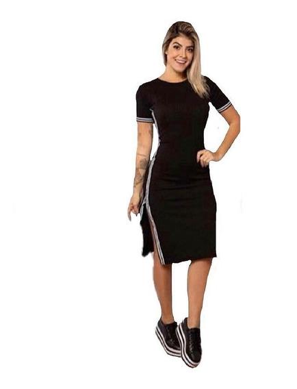 Vestido Kit 2 Canelado Evangélica Moda Jovem Roupa Feminina