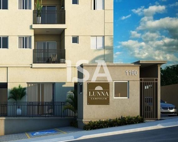 Alugar Apartamento, Condomínio Lunna Campolim, Parque Campolim, Sorocaba, 2 Dormitórios, Sala 2 Ambientes, Sacada, Cozinha Americana, Lavanderia - Ap02127 - 34424223