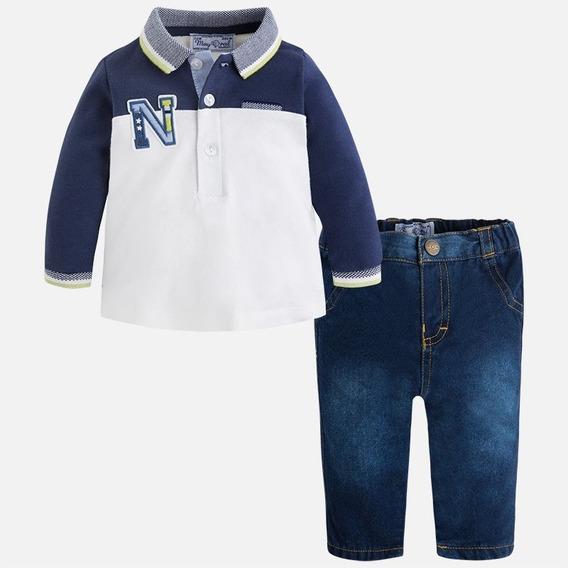 Conj. De Playera Polo Y Jeans Mayoral 2541 Navy V