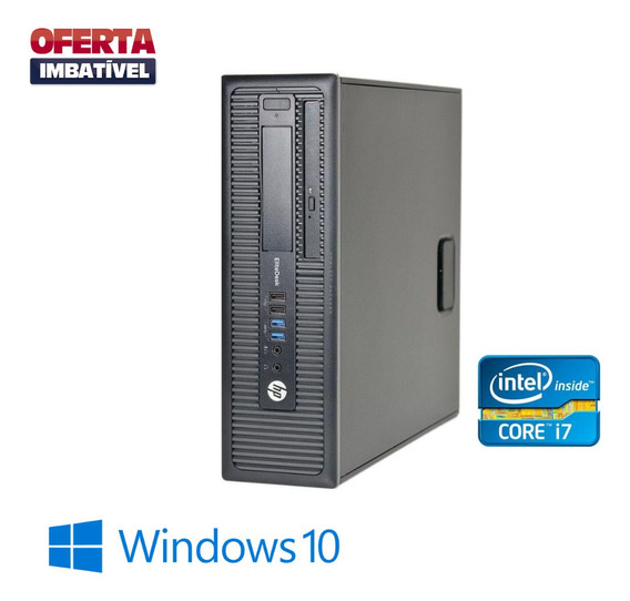 Cpu Hp Elitedesk 800 G1 Core I7 4gb Hd 2tb Windows 10 Frete