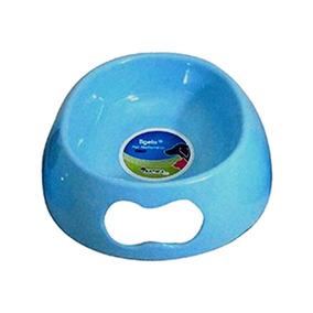 Comedouro Para Cachorros E Gatos De Plástico 1l Azul