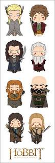 Plancha De Stickers De The Hobbit Bilbo Baggins Tolkien