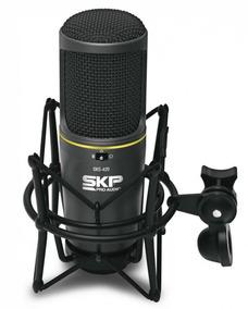 Microfone Condensador Skp Sks420 - Acompanha Suporte Shockmo