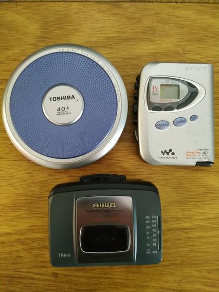 Walkman Lote P/ Peças Sony Aiwa Toshiba - Sucata