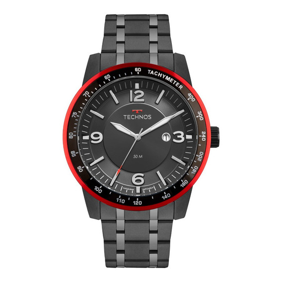Relógio Technos Masculino Preto Performan Racer 2117lba/4p
