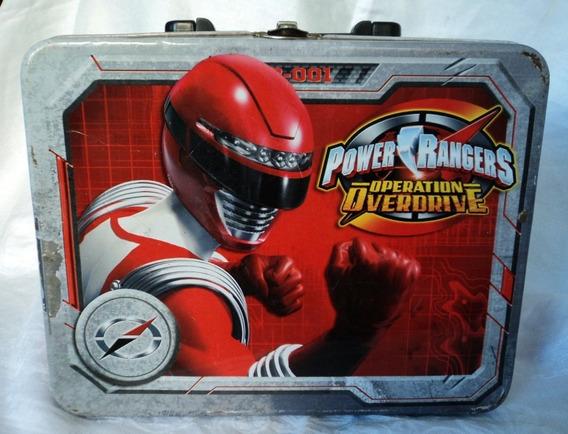 Lunchera De Lata Power Rangers Operation Overdribe Roja
