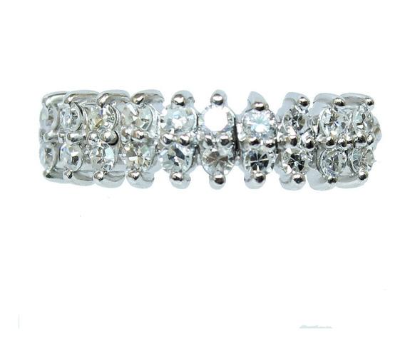 Pocao2005- Anel Ouro Branco 18k Diamantes 12x S/j Ft/gt 1984