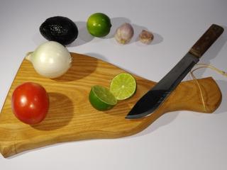 2 Tablas De Madera Para Cocina, En Forma De Jamon Serrano
