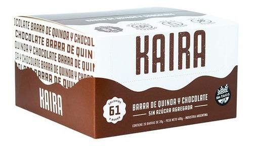 Barra De Quinoa Y Chocolate Kaira Caja X20u