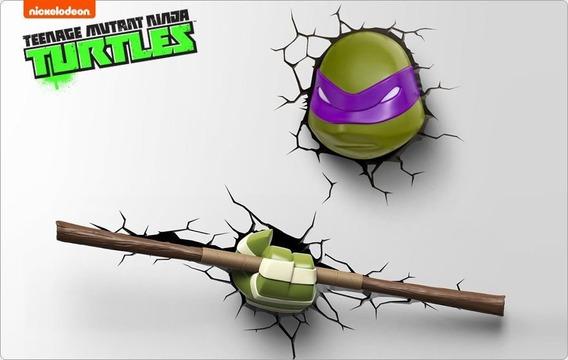 Conjunto Luminárias 3d Light Fx Tartarugas Ninja Donatello