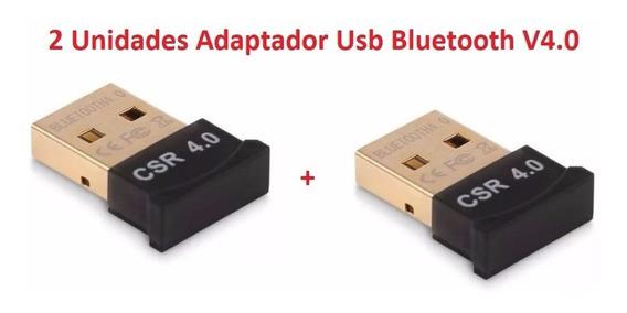 2 Unidades Adaptador Usb Bluetooth V4.0 Windows 7 8