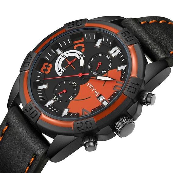 Reloj Hombre Stryve S1001 Militar Seal Sport Análogo Digital