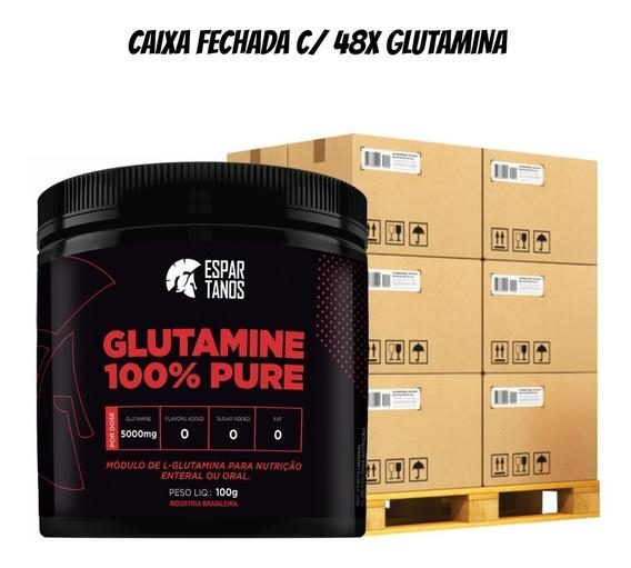 Kit 48x Glutamina Pure Espartanos Cx Fechada Revenda Atacado