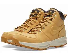 Bota Nike Manoa Leather Yellow Boot Brooklyn Limited Edition