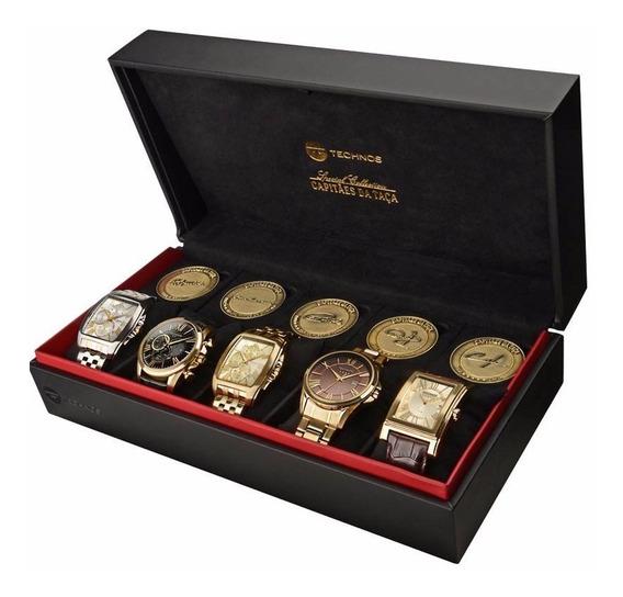 Coleção Luxo 5 Relógios Capitães Da Taça Edição Comemorativa